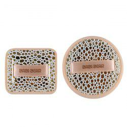Stylish 2 Pcs Round and Square Base Makeup BB Cream Wet Use Powder Puffs - LEOPARD