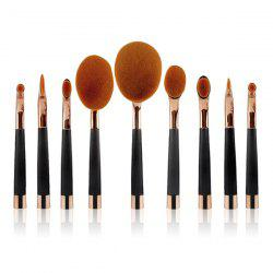 Stylish 9 Pcs Multifunction Golf Clubs Shape Nylon Makeup Brushes Set -