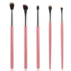 Stylish 5 Pcs Portable Nylon Eye Makeup Brushes Set - PINK