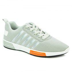 Stylish Tie Up and Stripes Design Athletic Shoes For Men -