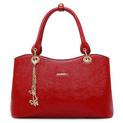 Graceful PU Leather and Chains Design Tote Bag For Women