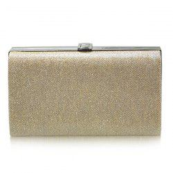 Stylish Metal and Solid Color Design Evening Bag For Women -