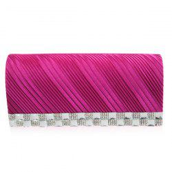 Trendy Solid Color and Wrinkle Design Evening Bag For Women -
