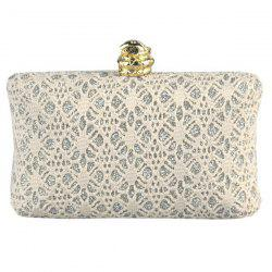Chic Faux Pearl and Golden Design Evening Bag For Women -