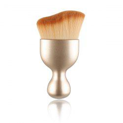 Stylish Goblet Shape Handle Wave Design Nylon Foundation Brush - GOLDEN