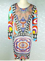 Tribe Print Long Sleeve Dress -