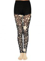 Star Pattern Lace Splicing Leggings