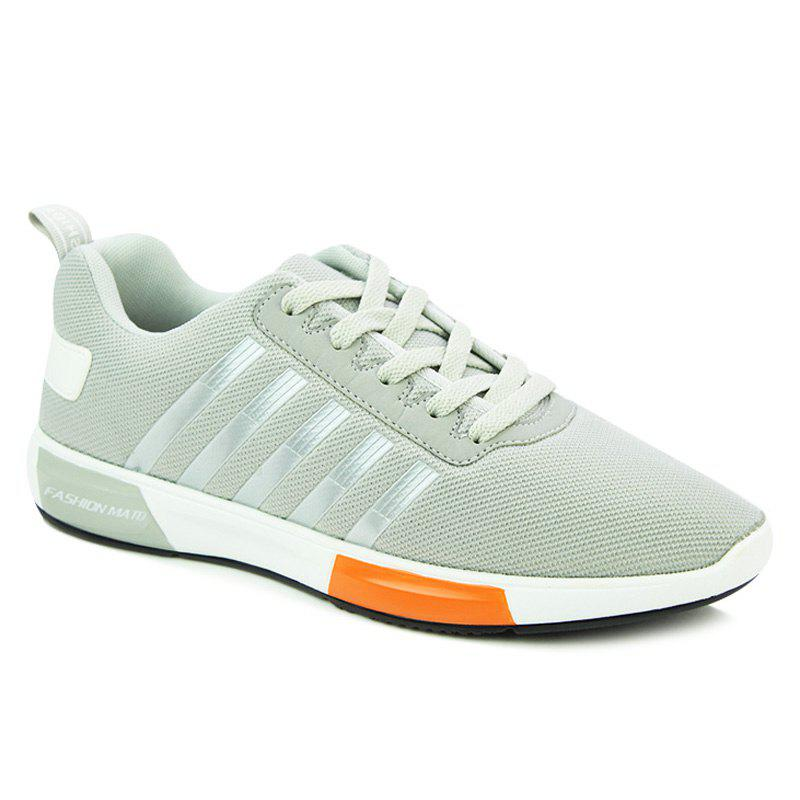 Affordable Stylish Tie Up and Stripes Design Athletic Shoes For Men