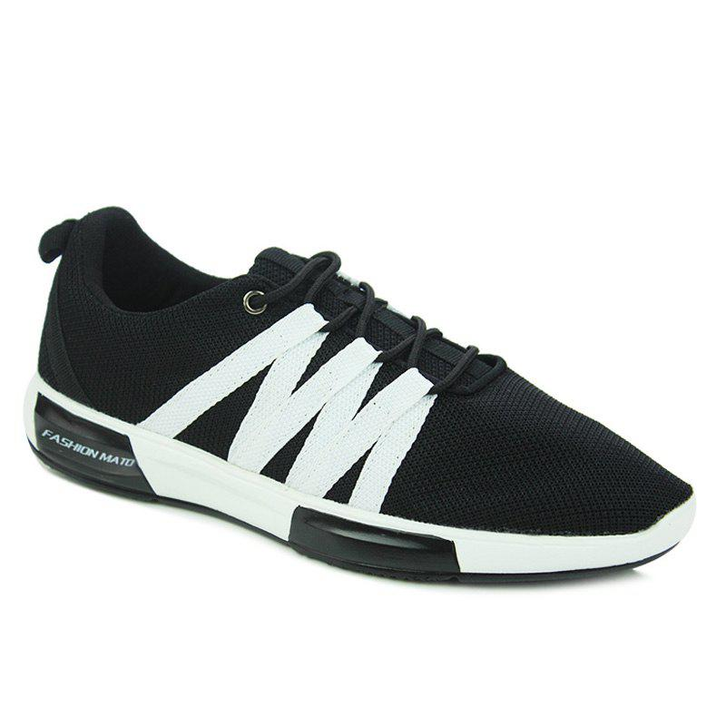 Trendy Couleur Splicing and Lace Up Design Chaussures de sport pour hommes