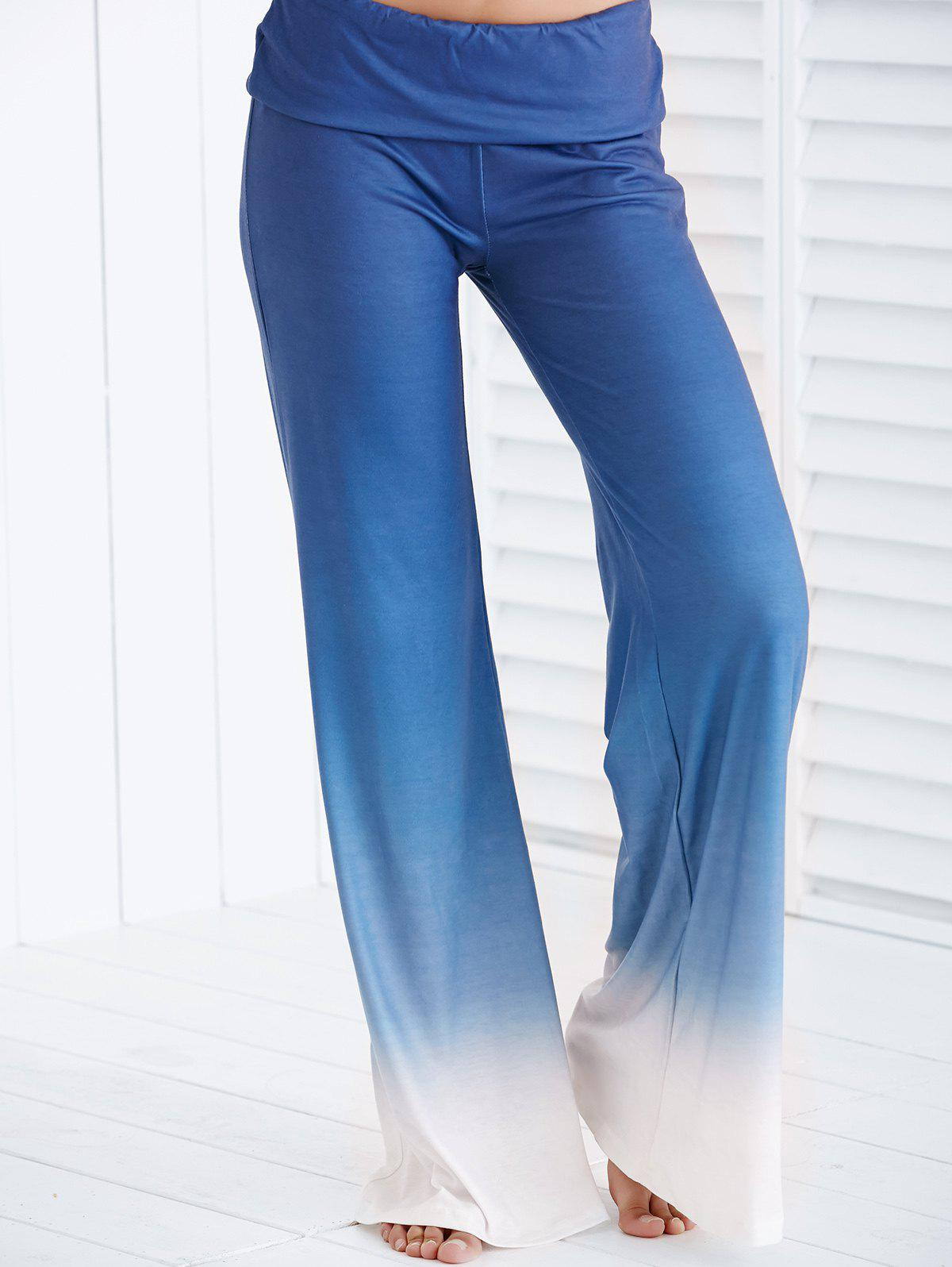 Discount Chic Elastic Waist Ombre Loose-Fitting Women's Pants