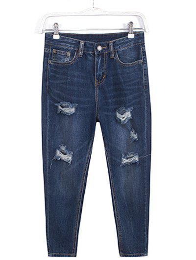 Plus Size Trendy Ripped Harem Jeans