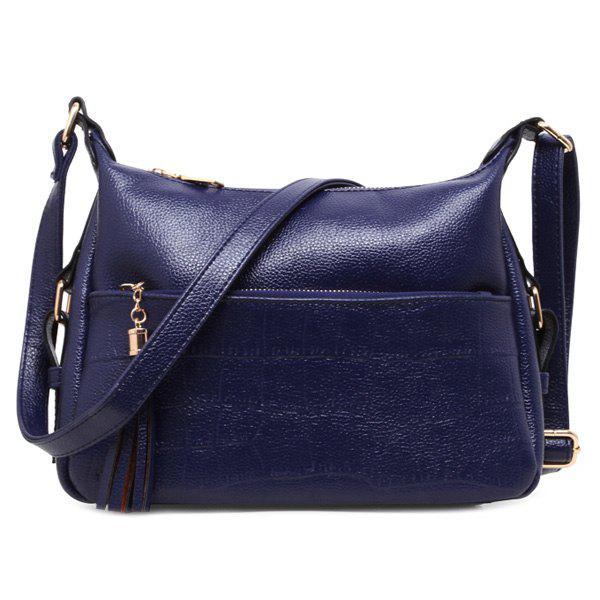 Store Stylish Solid Colour and Tassels Design Shoulder Bag For Women