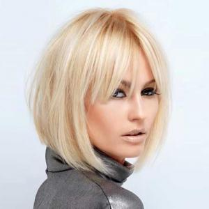 Fashion Women's Short Straight Side Bang Human Hair Wig