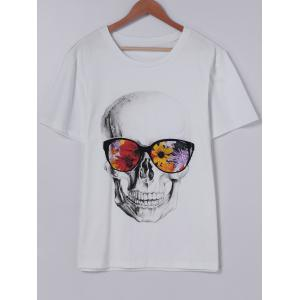 Fashionable Short Sleeves Round Collar CrossBones Printing With T-Shirt For Men