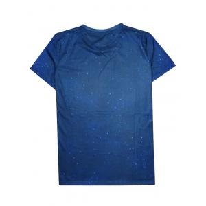 Earth 3D Print Round Neck Short Sleeve T-Shirt For Men -