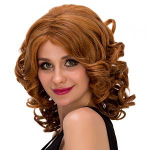 Medium Curly Colormix Side Parting Synthetic Hair Wig - COLORMIX