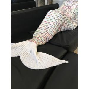 Chic Quality Scrambled Pattern Warmth Knitted Mermaid Tail Design Blanket -