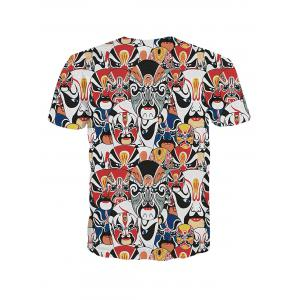 Fashion Men's Pullover Peking Opera Actress Printed T-Shirt -