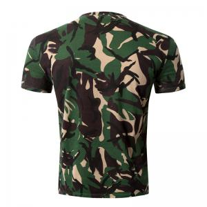 Casual Camo Letter Printed Round Collar Short Sleeve T-Shirt For Men - CAMOUFLAGE 2XL