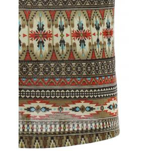 Round Neck Ethnic Style Geometric Pattern Short Sleeve T-Shirt For Men -