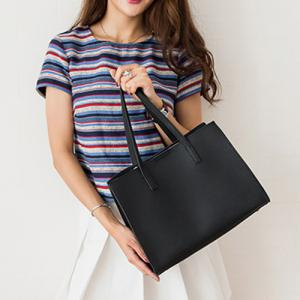 Concise Magnetic Closure and Solid Color Design Shoulder Bag For Women -