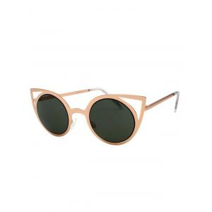 Stylish Metal Frame Cut Out Cat Eye Sunglasses -