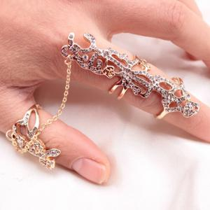 Vintage Alloy Hollow Out Ring - GOLDEN ONE-SIZE