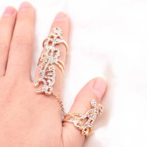 Vintage Alloy Hollow Out Ring -