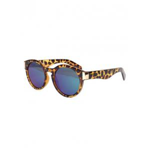 Stylish Leopard Frame Polarized Mirrored Sunglasses -