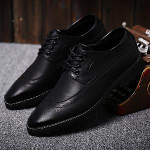 Stylish PU Leather and Tie Up Design Formal Shoes For Men -