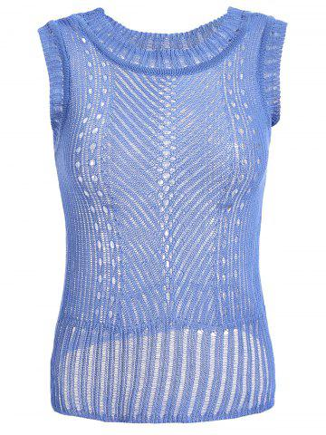 Latest Casual Hollow Out Knitted Tank Top For Women