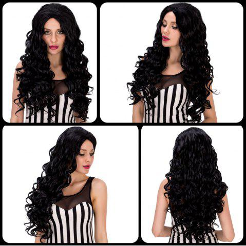 Discount Faddish Long Curly Black Women's Synthetic Hair Wig BLACK