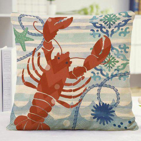Shop Exquisite Home Decor Flora Stripe Lobster Pattern Sofa Pillow Case