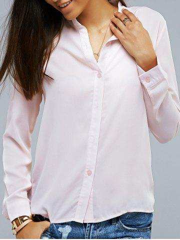 Discount Long Sleeve Light Pink Shirt