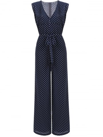 Sale Sweet Women's Polka Dot High Waist Jumpsuit