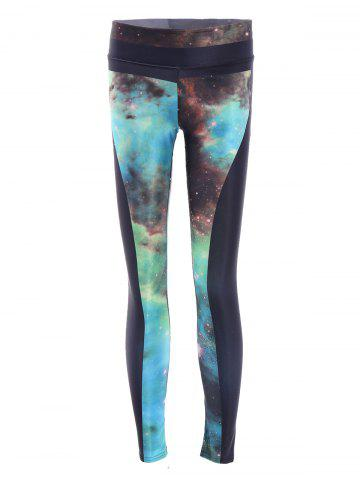 Trendy Galaxy High Stretchy Running Leggings COLORMIX ONE SIZE(FIT SIZE XS TO M)