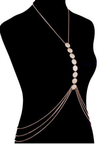 Sale Stunning Sequins Beach Body Jewelry - GOLDEN  Mobile