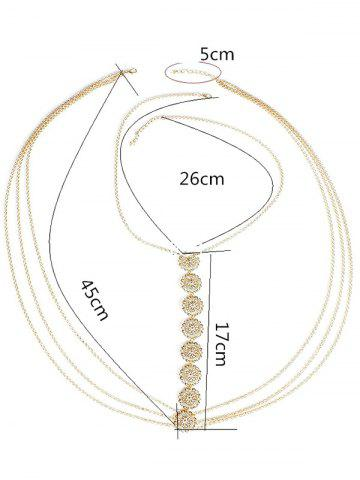 New Stunning Sequins Beach Body Jewelry - GOLDEN  Mobile