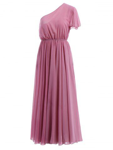 Outfits Sweet One-Shoulder Short Sleeve Maxi Dress For Women