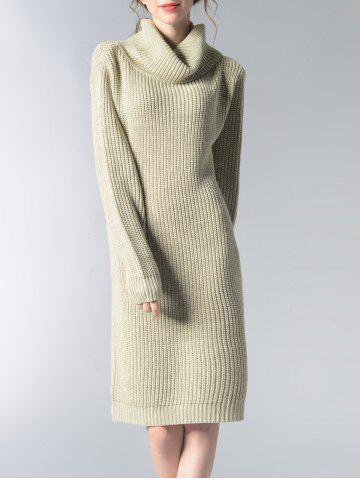 Outfits Turtle Neck Solid Color Women's Long Sweater