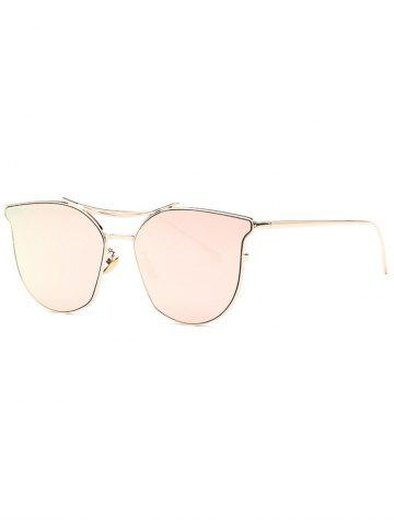 Online Stylish Pilot Cat Eye Mirrored Sunglasses ROSE GOLD
