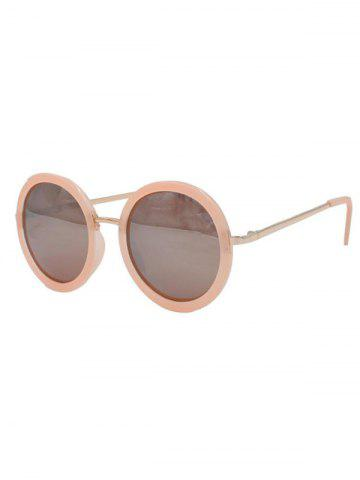 Outfit Stylish Round Pink Mirrored Sunglasses