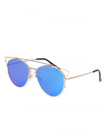 Cheap Stylish Crossbar Pilot Mirrored Sunglasses