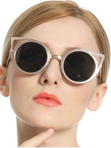 Chic Stylish Metal Frame Cut Out Cat Eye Sunglasses