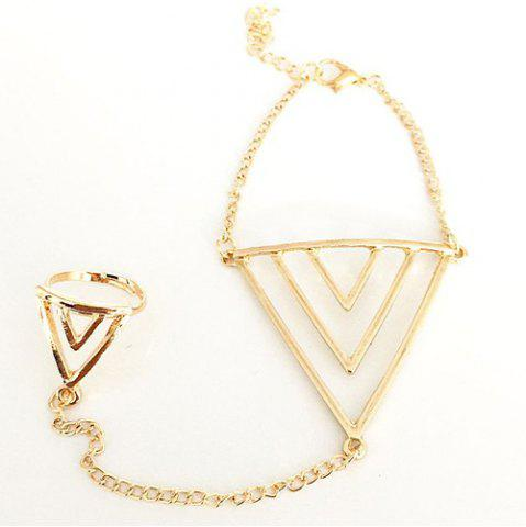 Buy Vintage Triangle Bracelet With Ring For Women