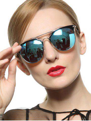 Outfit Stylish Ombre Cat Eye Mirrored Sunglasses