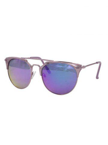 Online Stylish Ombre Cat Eye Mirrored Sunglasses PURPLE