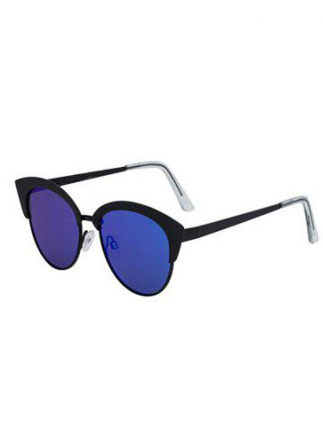 Fashion Stylish Cat Eye Pilot Mirrored Sunglasses