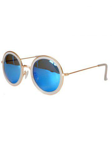 Shop Stylish Full Frame Mirrored Round Sunglasses