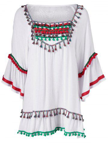 Outfit Colorful Appliques National Wind Dress